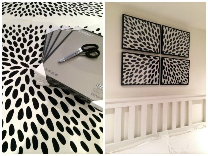 Fabric Wall Frames : Diy framed fabric wall art