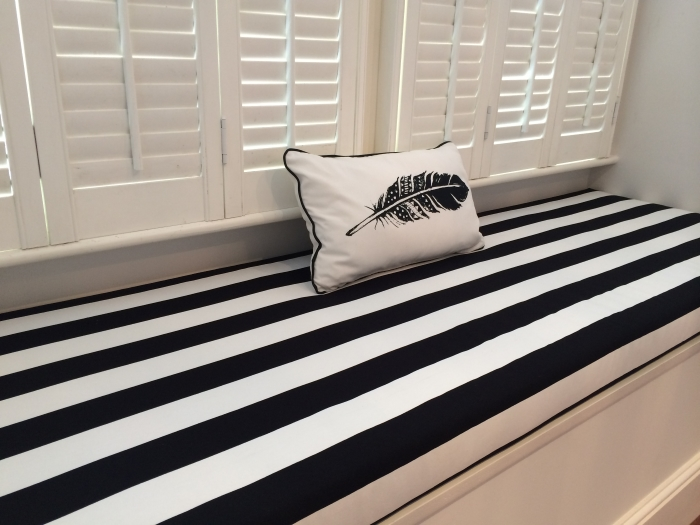 DIY: NO SEW BAY WINDOW SEAT CUSHION