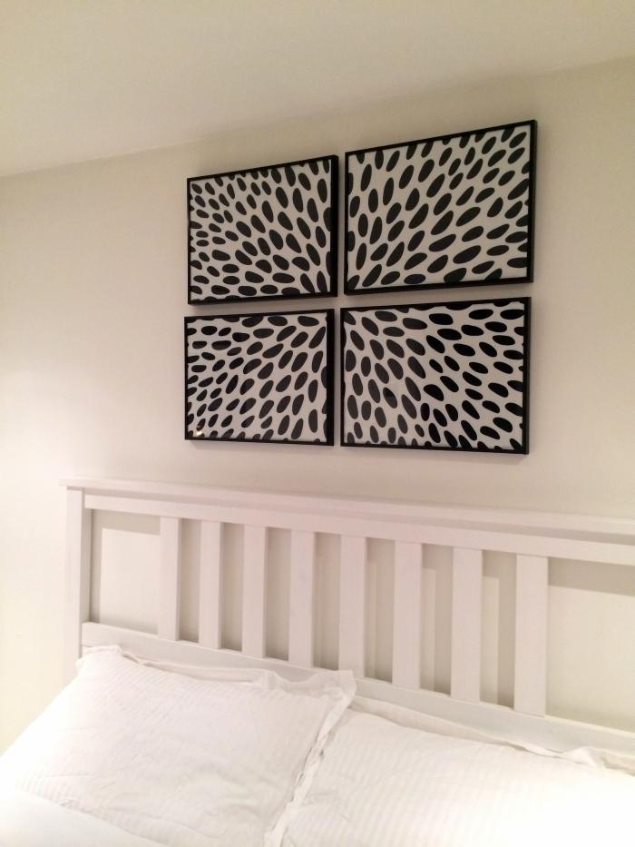DIY: FRAMED FABRIC WALL ART